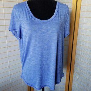LULULEMON Scoop Neck Purple Short Sleeve T-Shirt